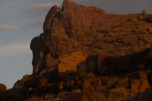 Before dawn's light hit this outcropping